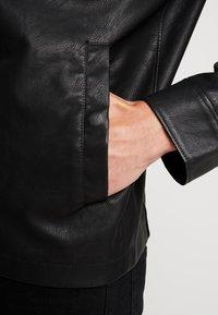TOM TAILOR DENIM - BIKER - Faux leather jacket - black - 5