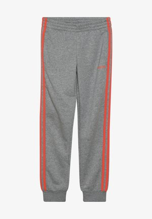 UNISEX - Tracksuit bottoms - medium grey heather/coral