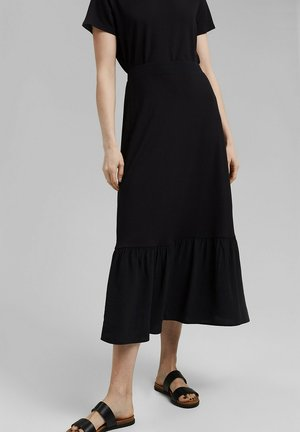 TIERRING SKIRT - A-line skirt - black