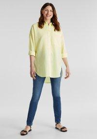 Esprit - Button-down blouse - lime yellow - 1