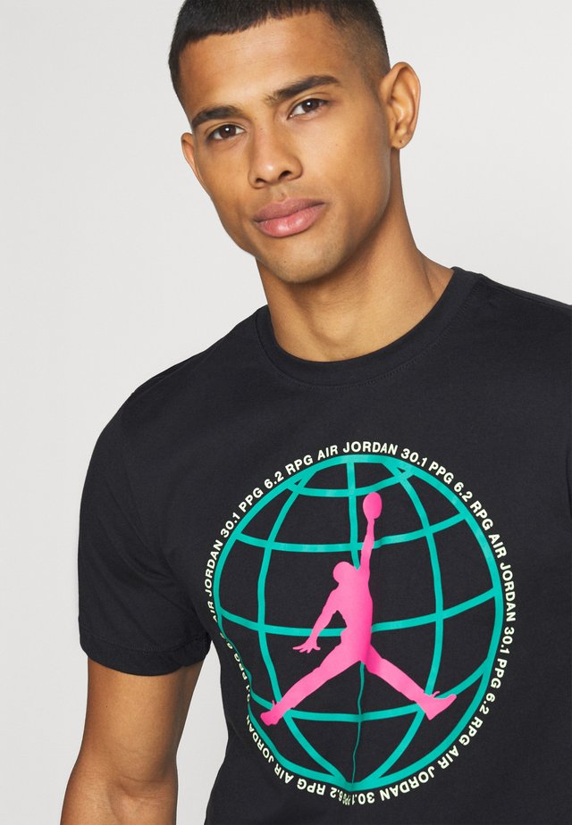 MOUNTAINSIDE CREW - Print T-shirt - black