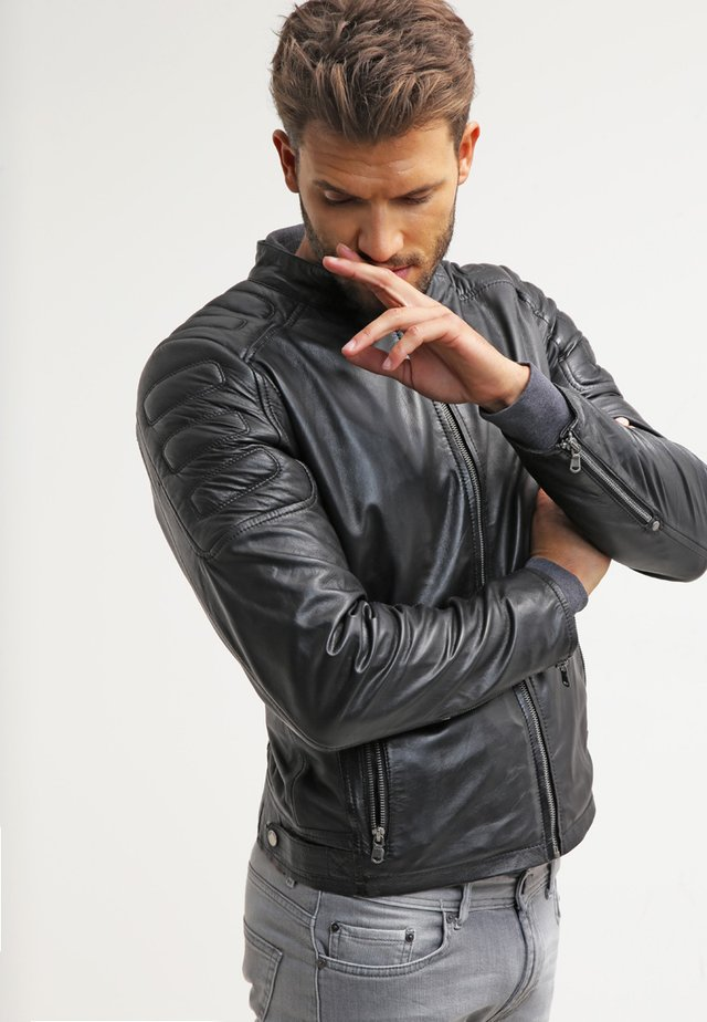 RODNY - Leather jacket - black