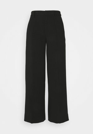 EVERYBODY WIDE LEG STRUCTURED SOLIDS - Trousers - black