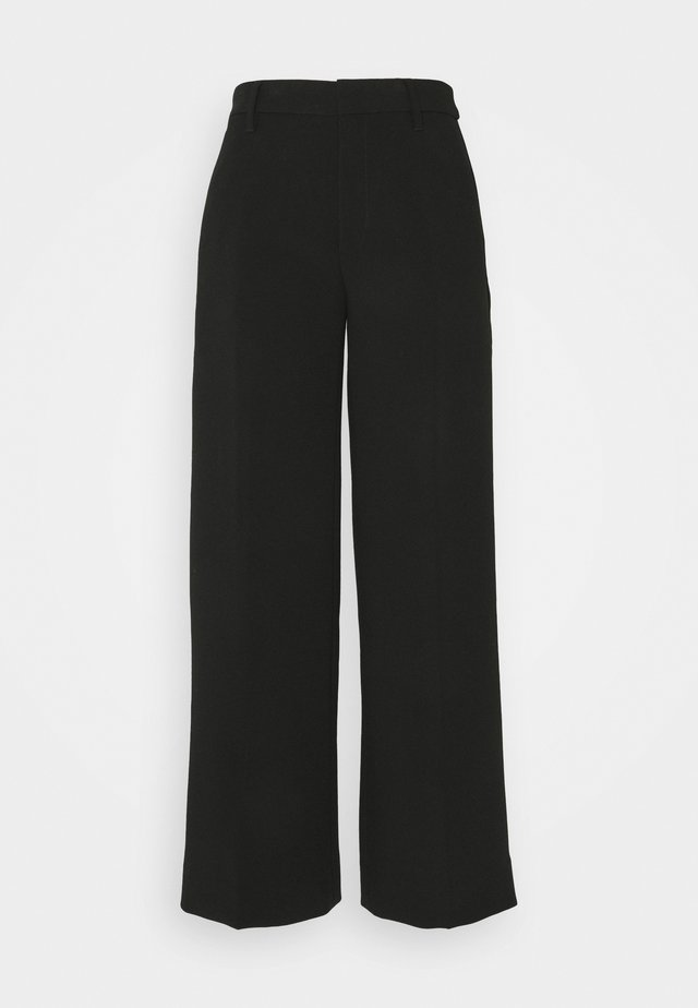 EVERYBODY WIDE LEG STRUCTURED SOLIDS - Broek - black