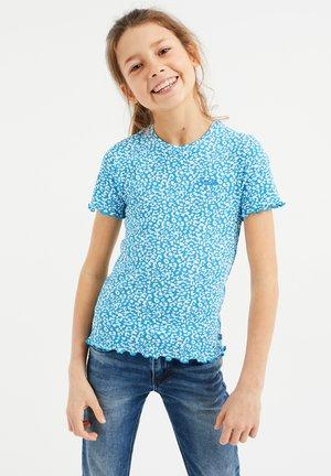 MET PANTERDESSIN - Print T-shirt - cobalt blue