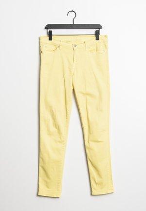 Jeansy Straight Leg - yellow