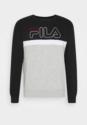 LAURUS CREW - Sweatshirts - light grey melange/black/bright white