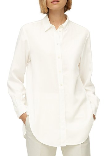 BLOUSE LONG SLEEVE - Shirt dress - paper white