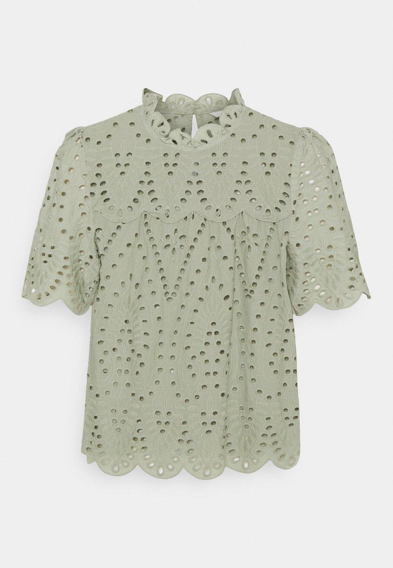 ONLY - ONLNYLA LIFE ANGLAISE - Print T-shirt - desert sage