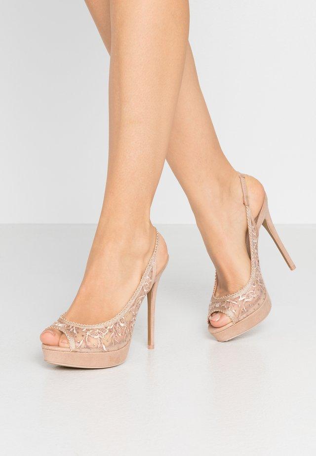 DRERRADIA - Peeptoe heels - bone