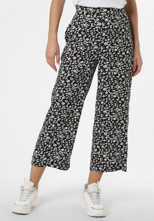 Trousers - schwarz weiß