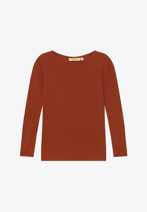 BELLA - Long sleeved top - burnt brick