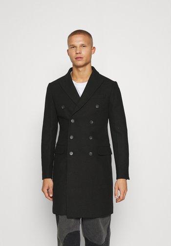 LONG PEA COAT - Classic coat - black