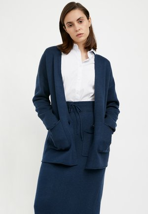 Cardigan - dark blue melange