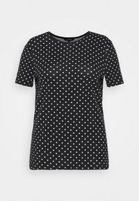 Lauren Ralph Lauren Woman - ALLI SHORT SLEEVE - T-shirt con stampa - black/white - 3