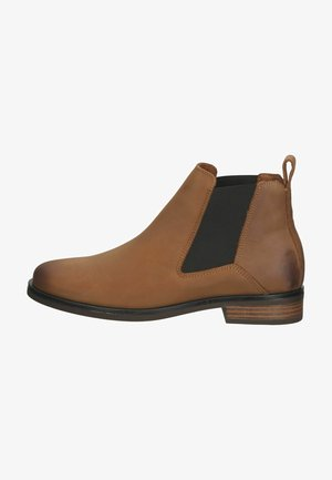 Ankle boots - dark tan lea