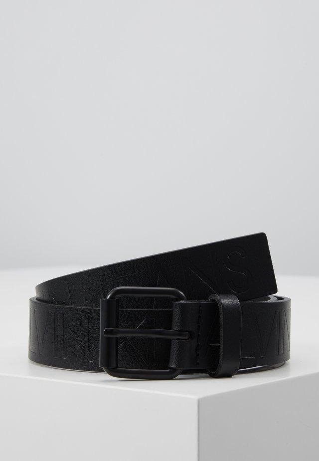 LOGO EMBOSSED BELT - Belt - black