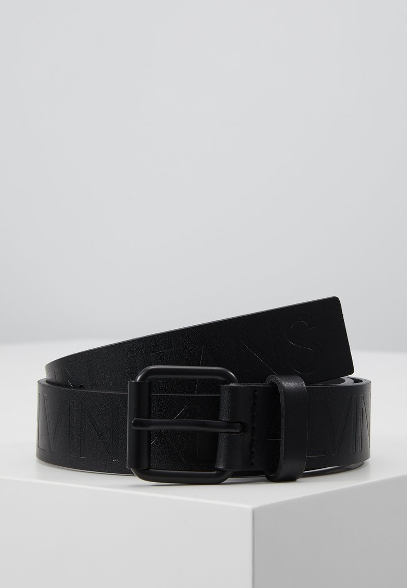 Calvin Klein Jeans - LOGO EMBOSSED BELT - Belt - black