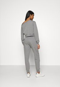 Even&Odd - Off Shoulder Sweat & Jogger Set - Sweatshirt - mottled grey - 3