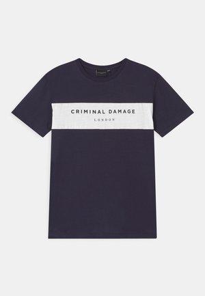 MARCUS - Print T-shirt - navy