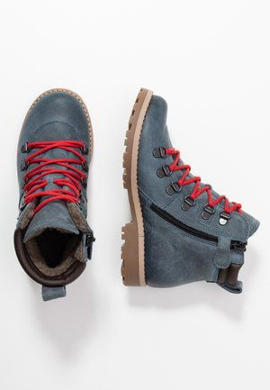 Šněrovací kotníkové boty - denim