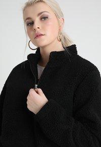 Urban Classics Curvy - LADIES SHERPA BATWING TROYER - Fleece trui - black - 3