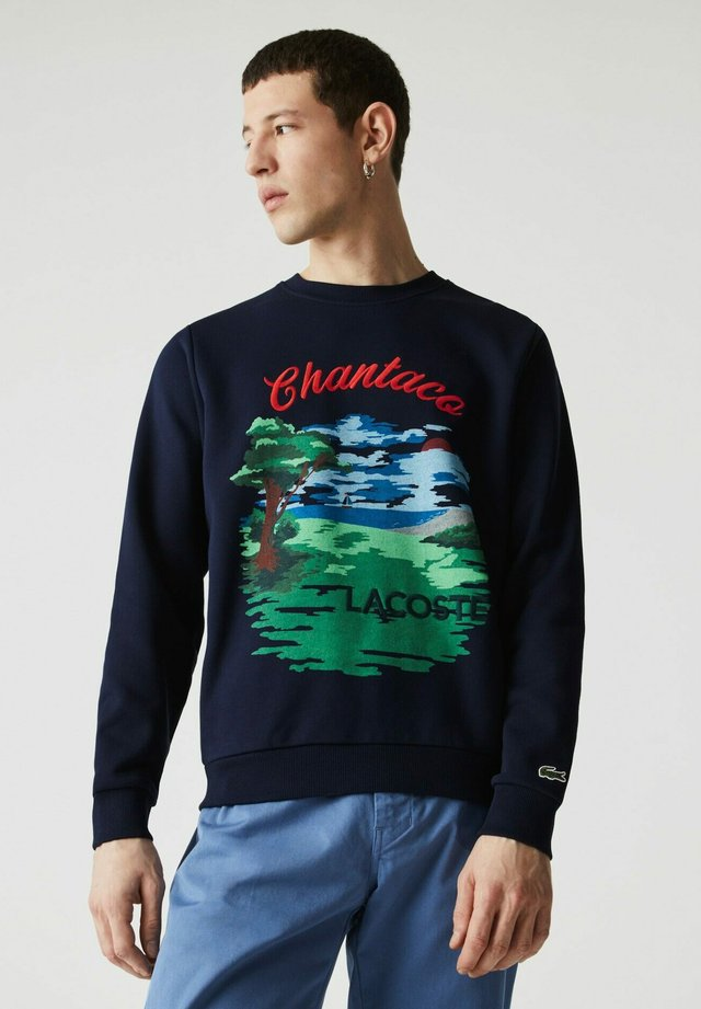 Sweatshirt - navy blau / rot