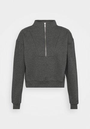 HALF ZIP  - Pyjama top - grey
