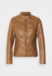 ONLY Petite - ONLMELISA JACKET - Faux leather jacket - cognac - 4