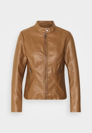 ONLMELISA JACKET - Faux leather jacket - cognac