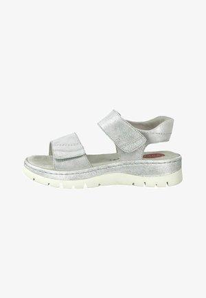 Sandals - silver met str