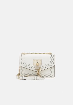 ELISSA SHOULDER FLAP - Across body bag - white/gold-coloured