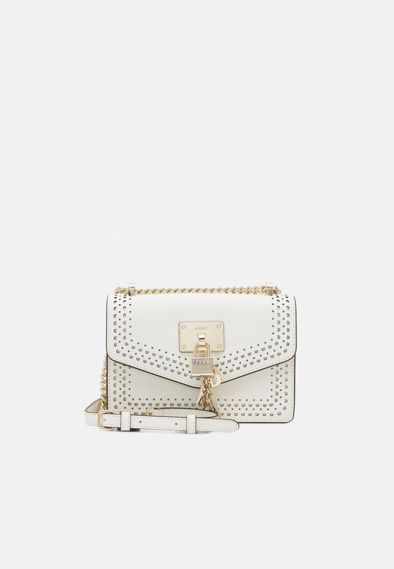 DKNY - ELISSA SHOULDER FLAP - Taška s příčným popruhem - white/gold-coloured