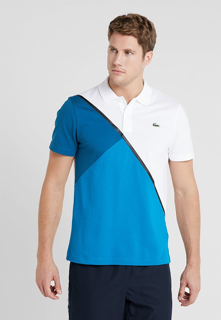 Lacoste Sport - TENNIS BLOCK - Piké - white/sumatra/illumination/black