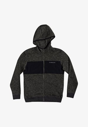 Zip-up hoodie - dark grey heather