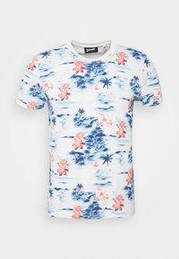 Schott - Print T-shirt - blue hawai - 3