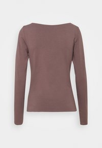 Cotton On - EVERYDAY WIDE V NECK LONG SLEEVE - Long sleeved top - brown stone - 1
