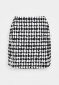 EVELYN - Mini skirt - black/white
