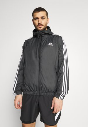 BASIC 3 STRIPES WINDBREAKER - Ulkoilutakki - black