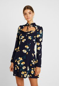 Missguided - OPEN FRONT MINI DRESS - Day dress - navy - 0