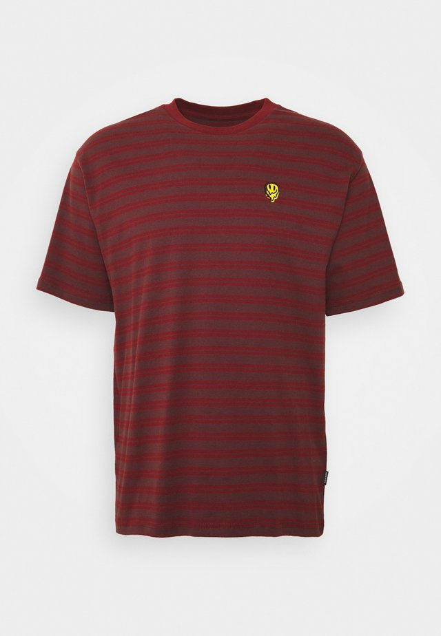 T-shirt con stampa - dark brick/wine