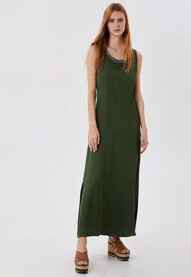 Długa sukienka - forest green