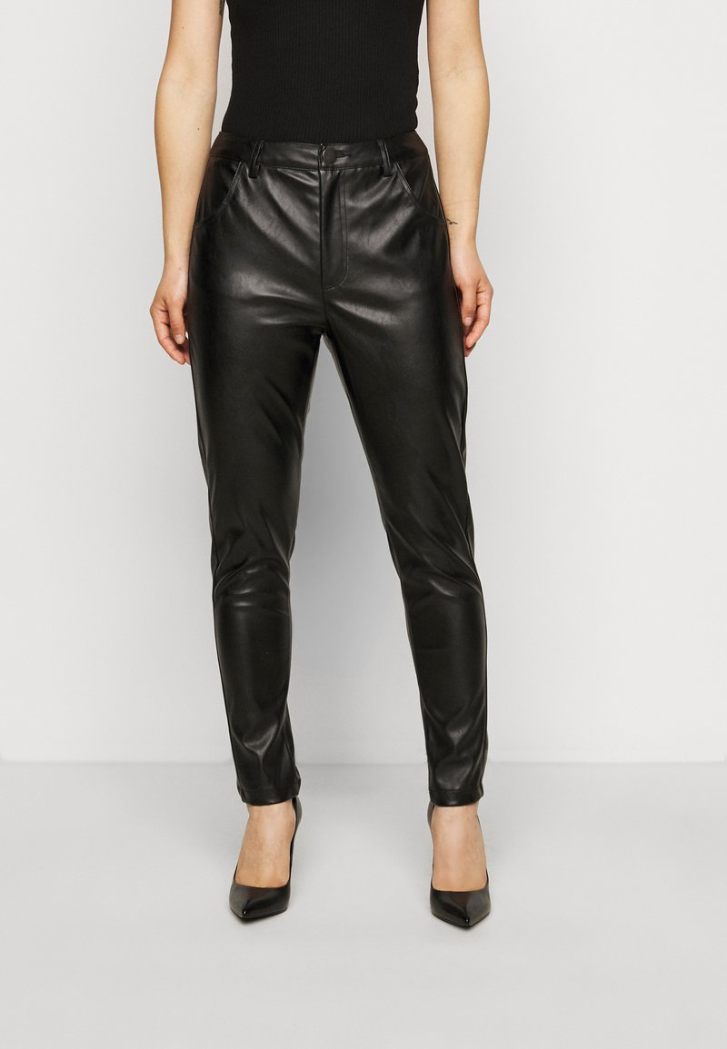 Glamorous Petite - TROUSER WITH POCKET DETAIL - Trousers - black
