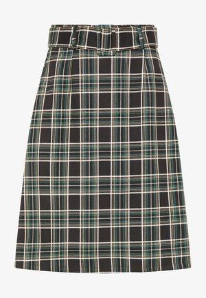 A-line skirt - schwarz weiss grün