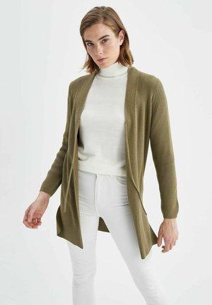 REGULAR FIT - Cardigan - khaki