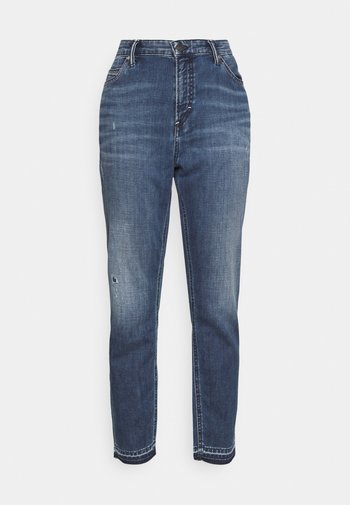 KAJ CROPPED - Straight leg jeans - wrap me in blue