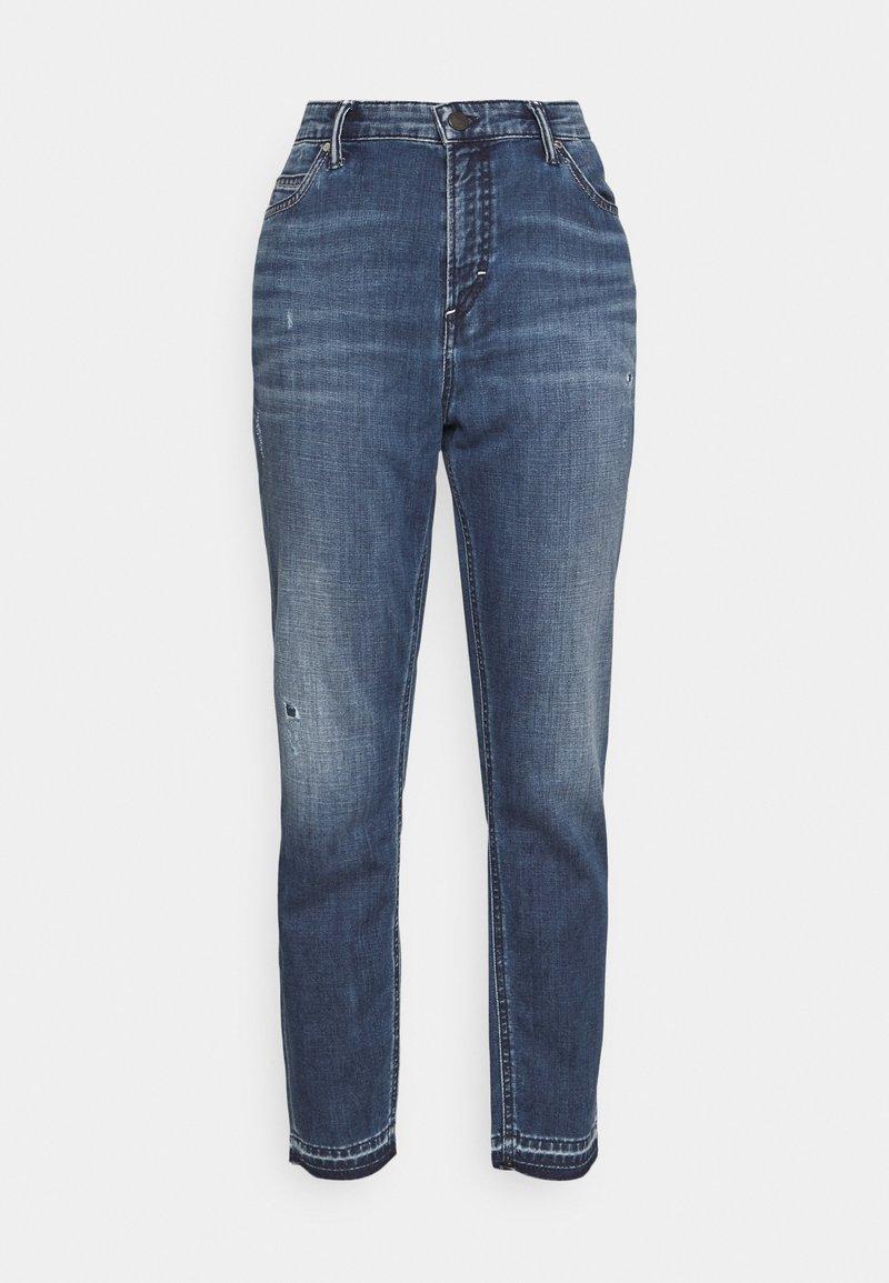 Marc O'Polo DENIM - KAJ CROPPED - Jeans straight leg - wrap me in blue