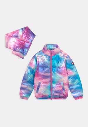 MODULAR PUFFER 2-IN-1 - Winter jacket - pale primrose/marble multi-coloured