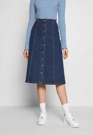 OBJSINYA DENIM SKIRT OXI - A-line skirt - medium blue denim