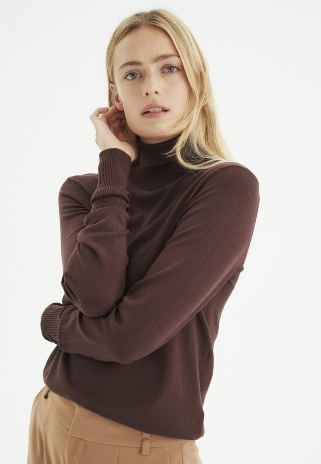 NOVELLA - Jumper - coffee brown